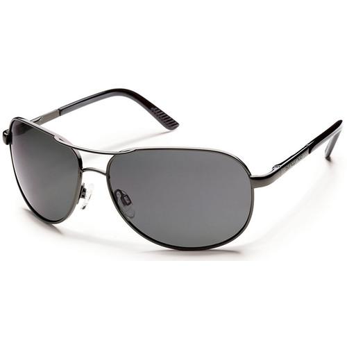 SUNCLOUD OPTICS Aviator Sunglasses (Gunmetal Frames with Polarized Gray Lenses)