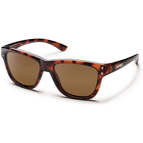 SUNCLOUD OPTICS Carob Sunglasses (Small Fit) (Tortoise Frames, Brown Polarized Lenses)