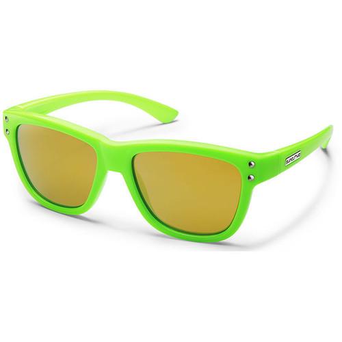 SUNCLOUD OPTICS Carob Sunglasses (Small Fit) (Green Frames, Yellow Mirror Polarized Lenses)