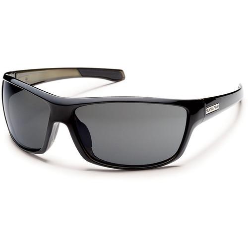 SUNCLOUD OPTICS Conductor Sunglasses (Black Frames, Gray Polarized Lenses)