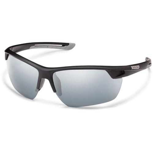 SUNCLOUD OPTICS Contender Sunglasses (Matte Black Frames, Silver Mirror Polarized Lenses)