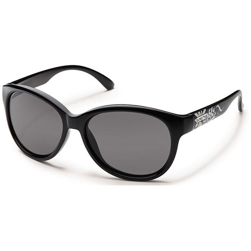 SUNCLOUD OPTICS Catnip Sunglasses (Black Frames, Gray Polarized Lenses)