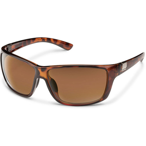 SUNCLOUD OPTICS Councilman Sunglasses (Tortoise Frames, Brown Polarized Lenses)