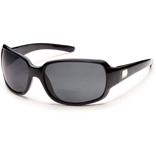 SUNCLOUD OPTICS Cookie Reader Sunglasses 2.0x (Black Frames, Gray Polarized Lenses)