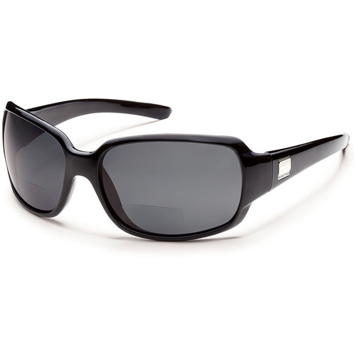 SUNCLOUD OPTICS Cookie Reader Sunglasses 2.5x (Black Frames, Gray Polarized Lenses)