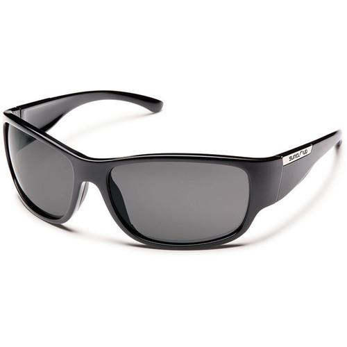 SUNCLOUD OPTICS Convoy Sunglasses (Black Frames, Gray Polarized Lenses)