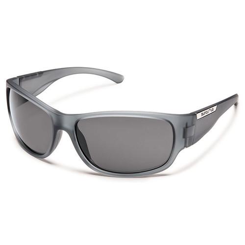 SUNCLOUD OPTICS Convoy Sunglasses (Matte Gray Frames, Gray Polarized Lenses)