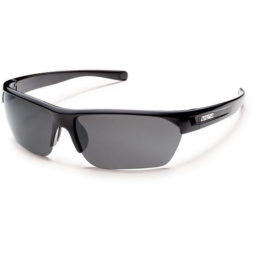 SUNCLOUD OPTICS Detour Sunglasses (Black Frames, Gray Polarized Lenses)
