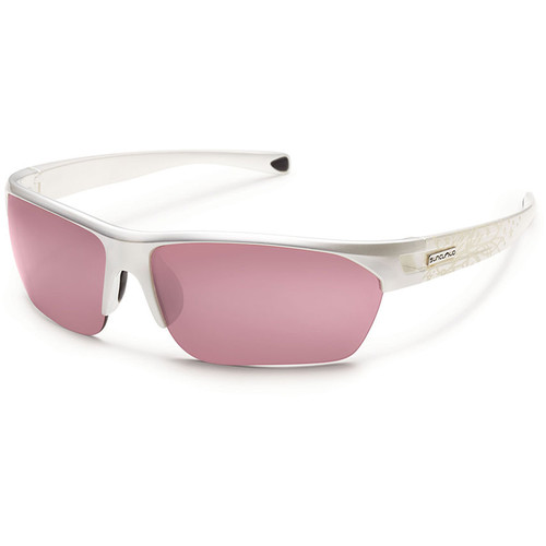 SUNCLOUD OPTICS Detour Sunglasses (Pearl Laser Frames, Rose Polarized Lenses)