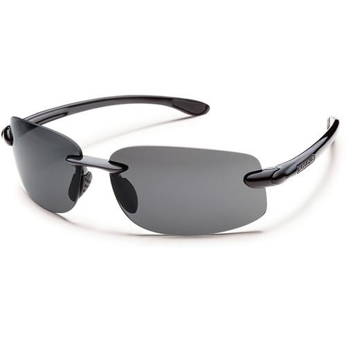 SUNCLOUD OPTICS Excursion Sunglasses (Black Frames, Gray Polarized Lenses)