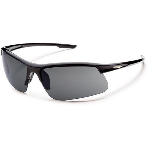 SUNCLOUD OPTICS Flyer Sunglasses (Black Frames, Gray Polarized Lenses)