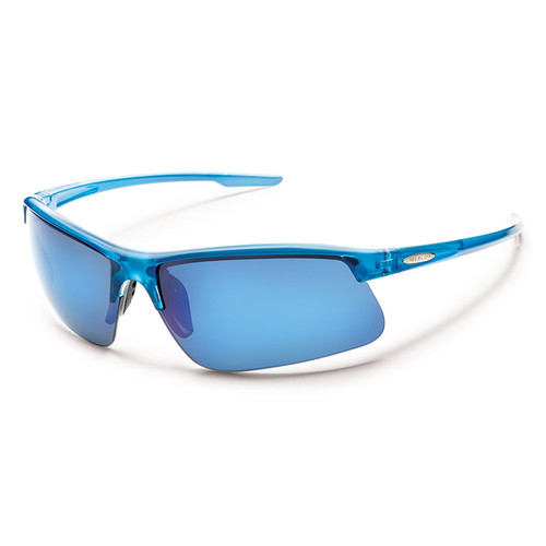 SUNCLOUD OPTICS Flyer Sunglasses (Blue Backpaint Frames, Blue Mirror Polarized Lenses)