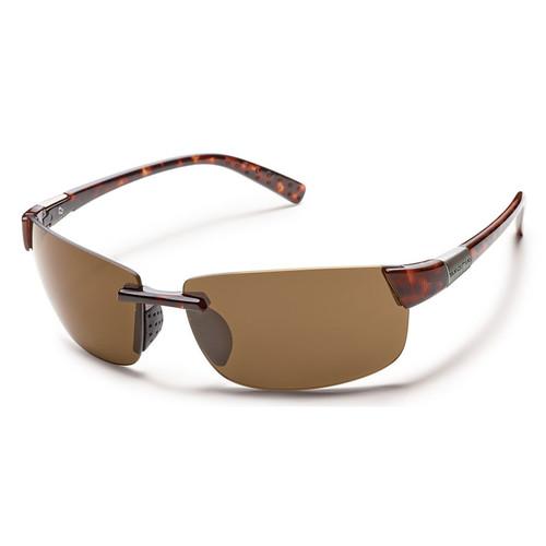 SUNCLOUD OPTICS Getaway Sunglasses (Tortoise Frames, Brown Polarized Lenses)