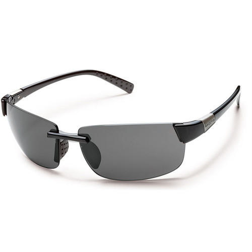 SUNCLOUD OPTICS Getaway Sunglasses (Black Frames, Gray Polarized Lenses)