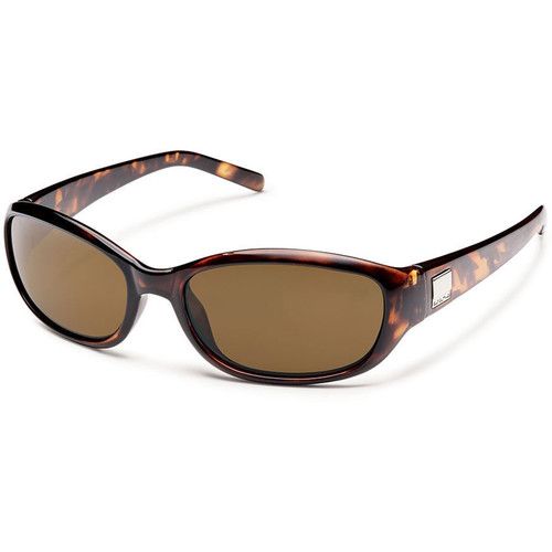 SUNCLOUD OPTICS Iris Sunglasses (Brown Tortoise Frames, Brown Polarized Lenses)