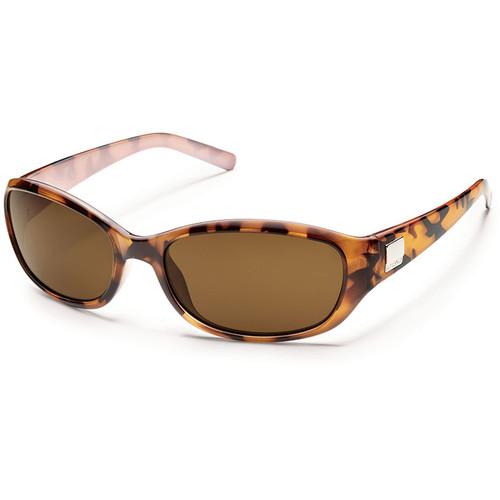 SUNCLOUD OPTICS Iris Sunglasses (Tortoise Backpaint Frames, Brown Polarized Lenses)