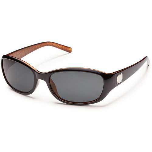 SUNCLOUD OPTICS Iris Sunglasses (Black Backpaint Frames, Gray Polarized Lenses)