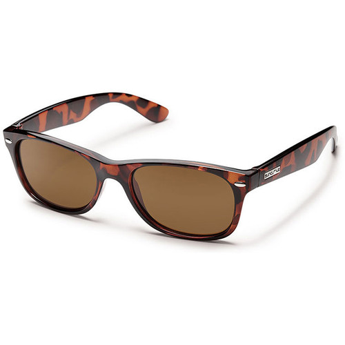 SUNCLOUD OPTICS Jasmine Sunglasses (Tortoise Frames, Brown Polarized Lenses)