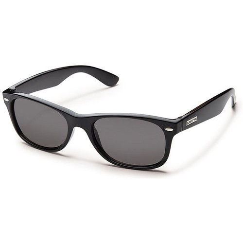 SUNCLOUD OPTICS Jasmine Sunglasses (Black Frames, Gray Polarized Lenses)