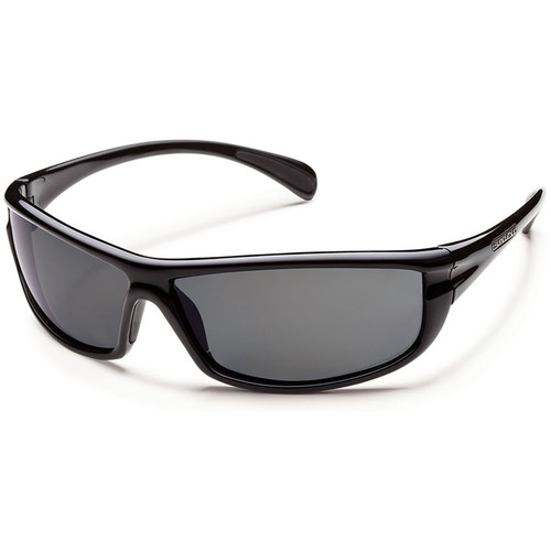 SUNCLOUD OPTICS King Sunglasses (Black Frames, Gray Polarized Lenses)