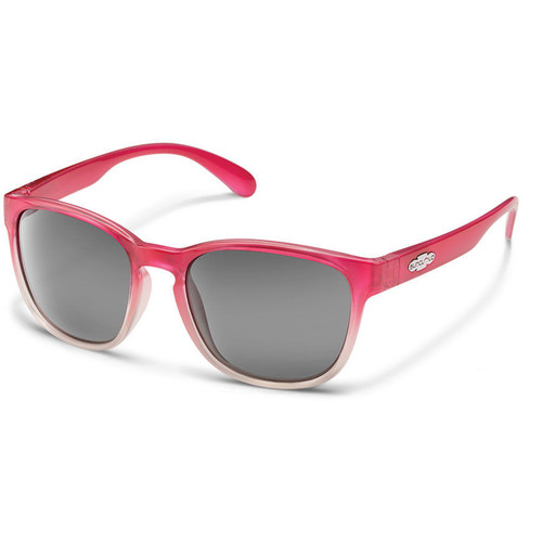 SUNCLOUD OPTICS Loveseat Sunglasses (Pink Fade Frames, Gray Polarized Lenses)