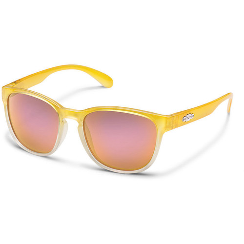 SUNCLOUD OPTICS Loveseat Sunglasses (Yellow Fade Frames, Pink Mirror Polarized Lenses)