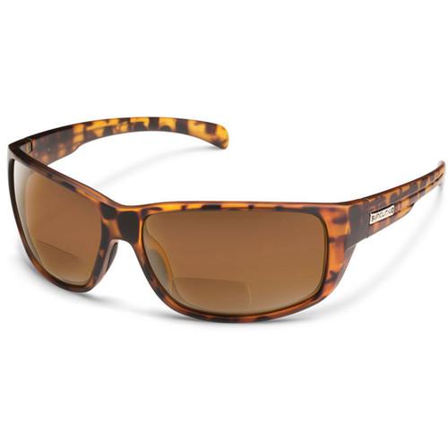SUNCLOUD OPTICS Milestone Reader Sunglasses 1.5x (Matte Tortoise Frames, Brown Polarized Lenses)