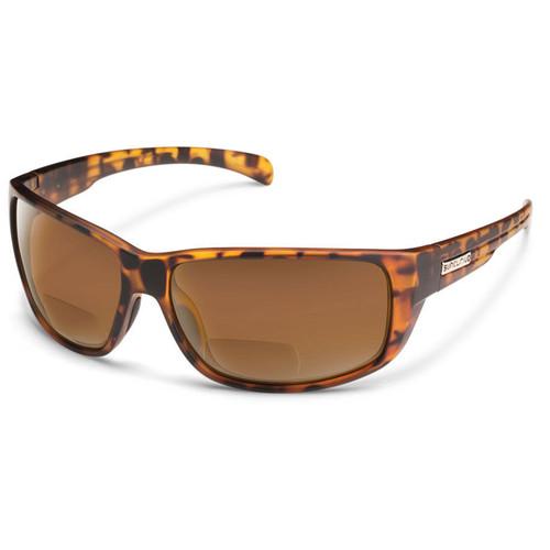 SUNCLOUD OPTICS Milestone Reader Sunglasses 2.5x (Matte Tortoise Frames, Brown Polarized Lenses)