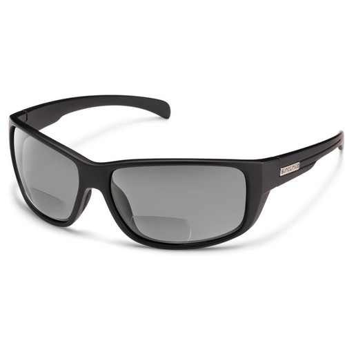 SUNCLOUD OPTICS Milestone Reader Sunglasses 2.0x (Matte Black Frames, Gray Polarized Lenses)