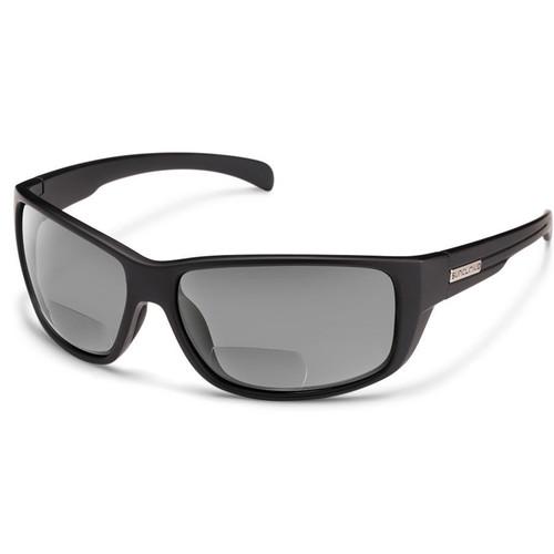 SUNCLOUD OPTICS Milestone Reader Sunglasses 2.5x (Matte Black Frames, Gray Polarized Lenses)