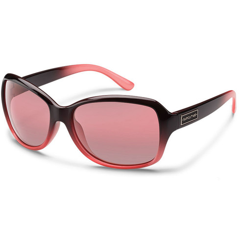 SUNCLOUD OPTICS Mosaic Sunglasses (Black Fade Frames, Rose Polarized Lenses)