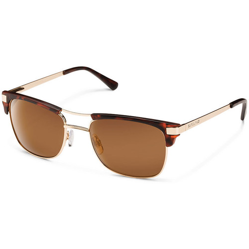 SUNCLOUD OPTICS Motorway Sunglasses (Wire/Matte Tortoise Frames, Brown Polarized Lenses)
