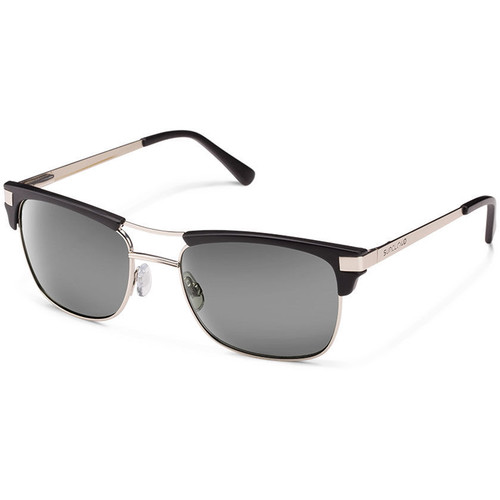 SUNCLOUD OPTICS Motorway Sunglasses (Wire/Matte Black Frames, Gray Polarized Lenses)