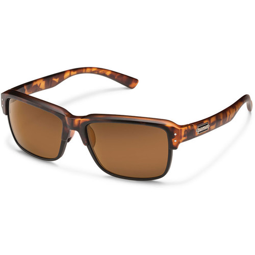 SUNCLOUD OPTICS Port_O_Call Sunglasses (Matte Tortoise Frames, Brown Polarized Lenses)