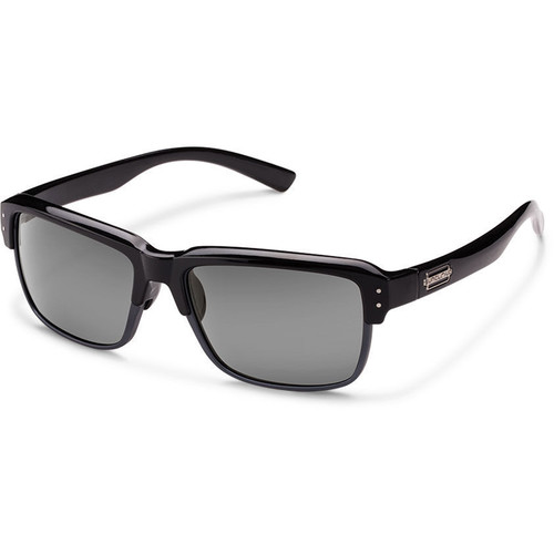 SUNCLOUD OPTICS Port_O_Call Sunglasses (Black Frames, Gray Polarized Lenses)