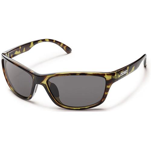 SUNCLOUD OPTICS Rowan Sunglasses (Tortoise Camo Frames, Gray Polarized Lenses)