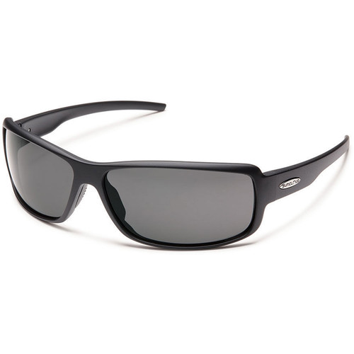 SUNCLOUD OPTICS Ricochet Sunglasses (Matte Black Frames, Gray Polarized Lenses)