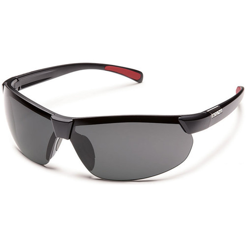 SUNCLOUD OPTICS Switchback Sunglasses (Matte Black Frames, Gray Polarized Lenses)