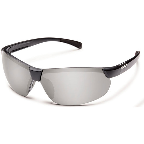 SUNCLOUD OPTICS Switchback Sunglasses (Matte Black Frames, Silver Mirror Polarized Lenses)