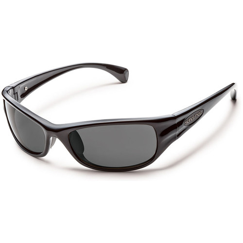 SUNCLOUD OPTICS Star Sunglasses (Black Frames, Gray Polarized Lenses)