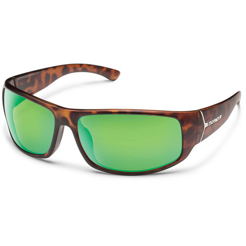 SUNCLOUD OPTICS Turbine Sunglasses (Matte Tortoise Frames, Green Mirror Polarized Lenses)