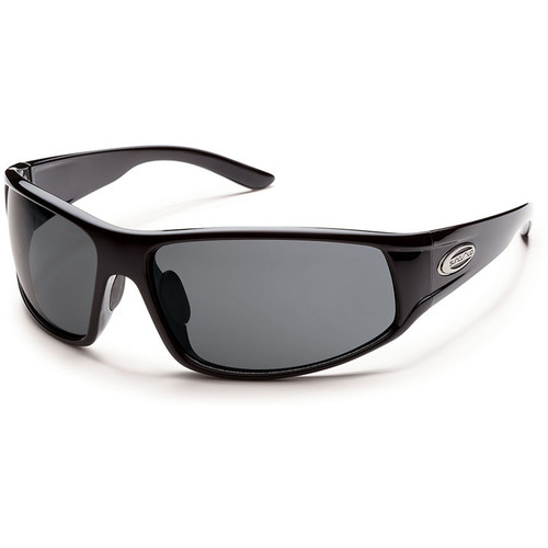 SUNCLOUD OPTICS Warrant Sunglasses (Black Frames, Gray Polarized Lenses)