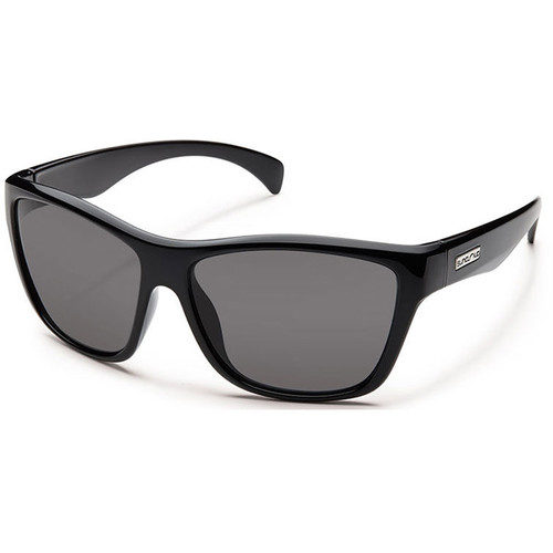 SUNCLOUD OPTICS Wasabi Sunglasses (Black Frames, Gray Polarized Lenses)