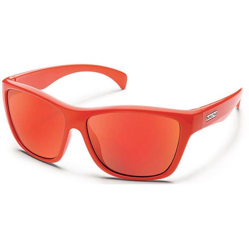 SUNCLOUD OPTICS Wasabi Sunglasses (Orange Frames, Red Mirror Polarized Lenses)