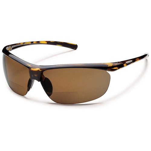 SUNCLOUD OPTICS Zephyr Reader Sunglasses 2.0x (Tortoise Frames, Brown Polarized Lenses)