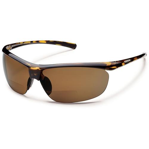 SUNCLOUD OPTICS Zephyr Reader Sunglasses 2.5x (Tortoise Frames, Brown Polarized Lenses)