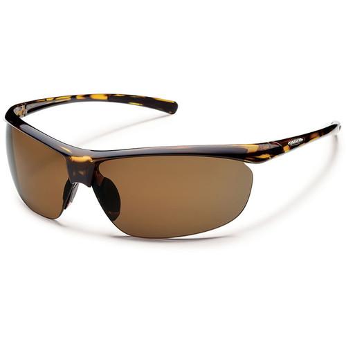 SUNCLOUD OPTICS Zephyr Sunglasses (Tortoise Frames, Brown Polarized Lenses)