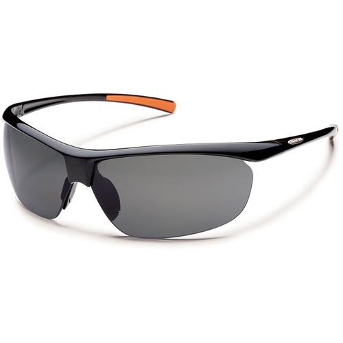 SUNCLOUD OPTICS Zephyr Sunglasses (Black Frames, Gray Polarized Lenses)