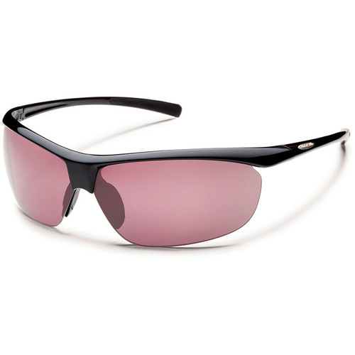 SUNCLOUD OPTICS Zephyr Sunglasses (Black Frames, Rose Polarized Lenses)