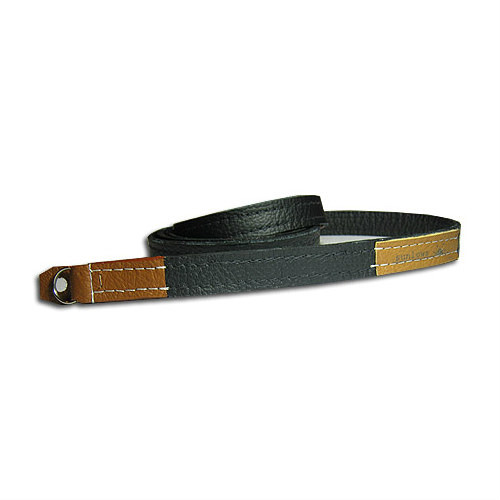 "Sunlows Leather Camera Strap with Ring & Lug Protector (45.3"", Brown Ends)"
